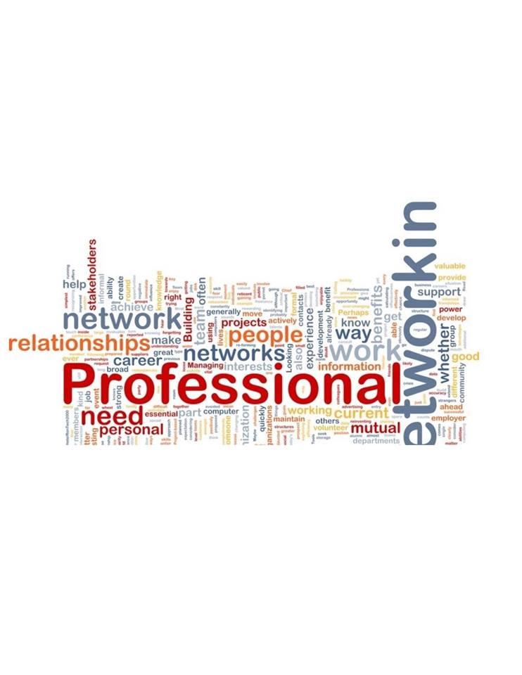 Word map of networking activities