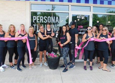Ribbon Cutting at Pink Revolution